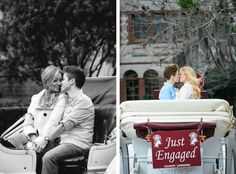 From David: We had fun creating these romantic and intimate engagement portraits after a surprise marriage proposal in downtown St. The surprise marriage proposal started with a… Engagement Photography, Engagement Session, Engagement Photos, Engagements, Surprise Proposal, Proposal Ideas, Horse Carriage Rides, Just Engaged, Anniversary Photos