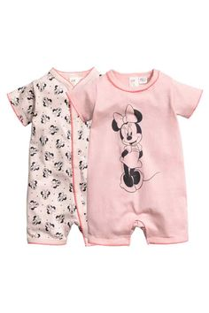 Set van 2 slaappakjes - Poederroze/Minnie Mouse - KINDEREN | H&M BE 1