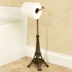 Import A Famous Landmark Of Paris Straight To Your Daily Routine With This  Toilet Tissue Holder. The Plated Steel Stand Resembles The Iconic Eiffel  Tower.