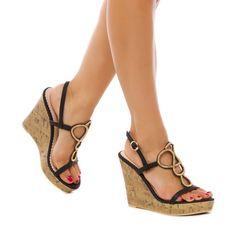 30a17d62a31a Summer Women Sandals High Wedges PU Leather Cross-over Strap Shoes Khaki