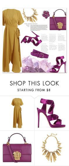 """""""wrap dress"""" by nerma10 ❤ liked on Polyvore featuring Jimmy Choo, Dolce&Gabbana and Acne Studios"""