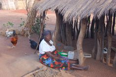 African woman in Southern Africa
