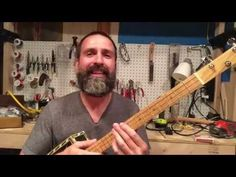 How do I get the right string height on my cigar box guitar? - YouTube