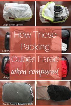 We love packing cubes for keeping clothes organized on the road. We've broken down 4 models from the best brands in this packing cube comparison post.