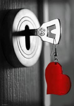 aww so cute, a simple key with a red heart! ooh maybe its key to your heart i don't know - kathyy I Love Heart, Key To My Heart, With All My Heart, Black White Red, Red And Grey, Color Splash, Color Pop, Red Color, Coeur Gif