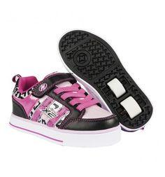 Heelys Blossom Junior Girls Velcro Heely Wheel Roller Shoe ...
