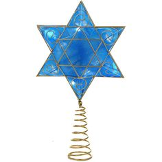 "Kurt Adler 13"" Battery-Operated Hanukkah Tree Topper ($32) ❤ liked on Polyvore featuring home, home decor, holiday decorations, battery operated christmas tree topper, kurt adler christmas tree topper, hanukkah home decor, hanukkah tree topper and kurt adler"