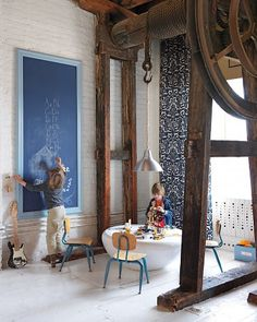 i would LOVE to live in an old mill buildinf/huge loft for this very reason! oh the things i would do!  :)
