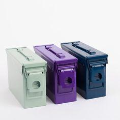 Spray paint and ammo box