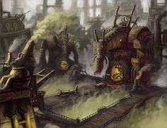 Iron-ogre Factory by MarkBulahao. #steampunk #victorian #Art #gosstudio .★ We recommend Gift Shop: http://www.zazzle.com/vintagestylestudio ★