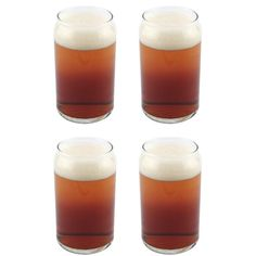 Amazon.com | Libbey Can Shaped Beer Glass - 16 oz - 4 PACK w/ Pourer: Beer Glasses