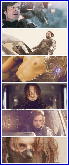 Captain America: The Winter Soldier - Bucky Barnes - Sebastian Stan. I want to know why NO ONE mentions the fact that his arm looks like something Stark would build. More stolen tech from Howard? Improved upon? When did he get that thing? Not even Hydra had tech like that in the forties.