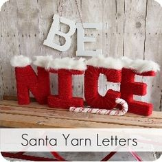 My Sister's Suitcase: Santa Yarn Letters. ADORABLE!