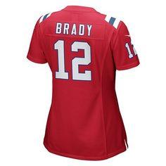 Ladies Nike Tom Brady Throwback Game Jersey-Red. New England Patriots ... 1191baf57