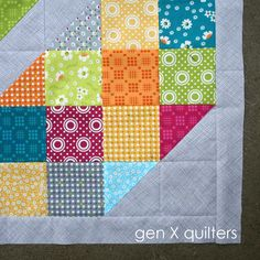 Gen X Quilters - Quilt Inspiration | Quilting Tutorials & Patterns | Connect: Lacuna Sampler Baby Quilt In Progress