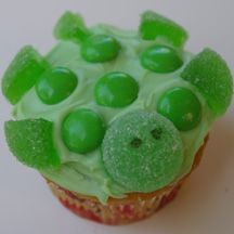 turtle cupcakes, baby shower