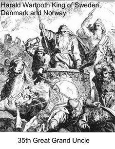 889 Denmark  Harald Wartooth King of Sweden Denmark and ~E97