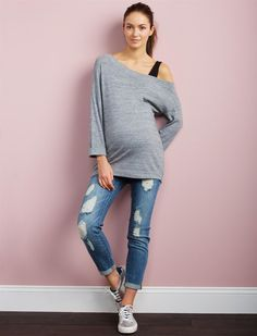 ff94cb94be75c A Pea in the Pod Luxe Essentials Denim Secret Fit Belly Kate Girlfriend  Maternity Jeans