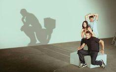 #man #on #toilet #shadow