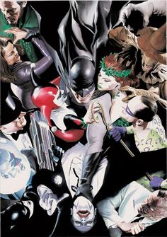 Batman & the villains. I know she isn't in this much, but the whole combination of villains and Batman, I like