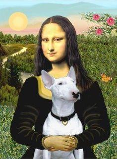 Bull Terrier and Mona Lisa