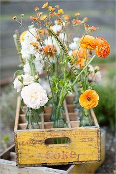 Gallery: rustic fall wildflowers wedding centerpiece - Deer Pearl Flowers