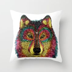 Cosmic Wild Pillow by Luna Portnoi