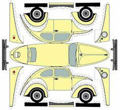 carrito de papel Volkswagen
