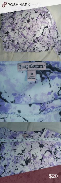 Juicy Couture sweat top sz M Marble decorated Juicy Couture sweat top. Sz medium. Gently worn. Juicy Couture Tops Sweatshirts & Hoodies