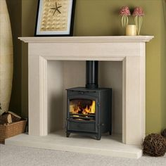 I like the fireplace but not the basket - fireline have some interest simple fireplaces