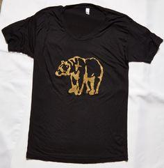 Viscose is ultra-soft, lightweight GOLDEN Bear Tshirt by sacerandsavive on Etsy Golden Bear, Spirit Wear, Trending Outfits, Clothing, Mens Tops, T Shirt, How To Wear, Etsy, Fashion