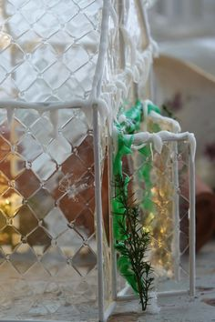 Askartele talviseksi koristeeksi kasvihuone valosarjoineen - Paratiisi takapihalla