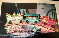 Circus train bday cake for my 3 year old.