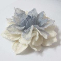 Felt Flower Brooch , eco friendly holiday gift christmas gift idea wedding jewelry handmade flower