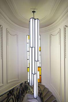 Vu à la Condition des Soies, rénovée par Créquy, le lustre Emergence par Anatole Jeannot et Martin Napoléoni. © Studio 5.56
