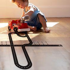 TIP: Vloersticker circuit #jongenskamer   Je suis petit