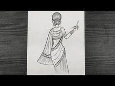 Traditional Girl Drawing With Diya || Diwali Drawing || Easy Girl Drawing || Pencil Drawing - YouTube Easy Drawings, Pencil Drawings, Diwali Drawing, Beautiful Girl Drawing, Hello Everyone, Traditional, Youtube, Art, Kunst