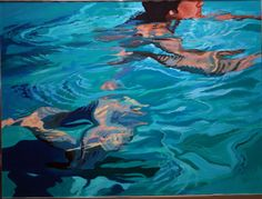 Pool series. Oil on Canvas by Uncle Richard Byrnes