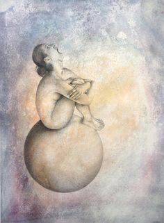 Sonya G Peters Amaluna - 2013 Graphite, acrylic on Arches paper 57 x 77 cm Sofitel Hotel, Graphite, Contemporary, Painting, Art, Cirque Du Soleil, Graffiti, Art Background, Kunst