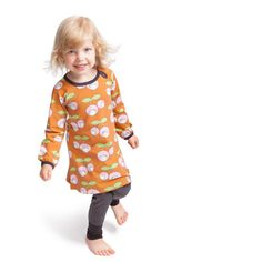 NOSH Dress Cherry, Orange. Certified organic cotton Cherry Dress, Organic Cotton, Kids Outfits, Fall Winter, Orange, Clothing, Color, Collection, Dresses