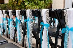 blue and black indoor Wedding Ideas   Always classy, Tiffany blue and black and white damask.