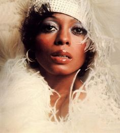Diana Ross with lots of gloss