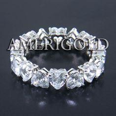 Eternity Band with Heart-shape Diamond
