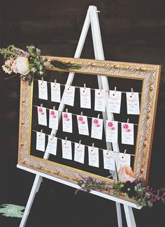 DIY Bohemian Wedding Seating Chart | The Elli Blog