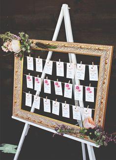 DIY Bohemian Wedding Seating Chart | The Elli Blog