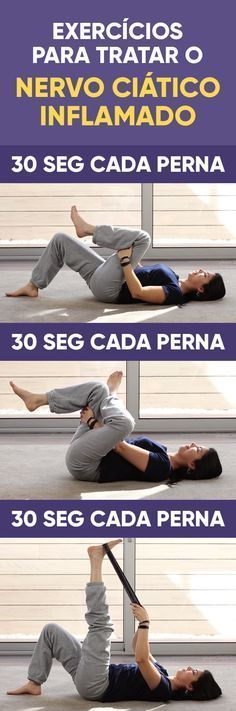 Yoga Poses : O tratamento caseiro para dor ciática consiste em relaxar os músculos das cost Fitness Del Yoga, Fitness Tips, Health Fitness, Pilates Video, Sciatic Nerve, Workout, Excercise, Back Pain, Personal Trainer