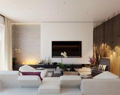 Steinwand Wohnzimmer - Design, Deko & Interieur für Haus & Wohnung ...