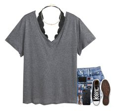 """""""Downtown W/ My Main Gs"""" by cfc-28-sc ❤ liked on Polyvore featuring Converse, Humble Chic, H&M, ela rae, Maybelline, CAM, Casio, Lancôme, NARS Cosmetics and FOSSIL"""