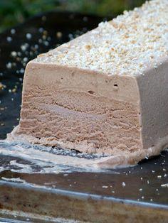 Semifreddo noix de coco et cacao { glace sans sorbetière; Raw Food}