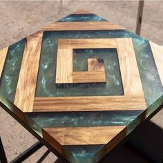 37 Stunning Resin Wood Table Design Ideas You Will Love - For several reasons, resin furniture has become a popular alternative to wooden furniture created for outdoor use. It looks similar to painted wood, b. Epoxy Wood Table, Epoxy Resin Table, Diy Resin Crafts, Wood Crafts, Wood Projects, Woodworking Projects, Wood Table Design, Resin Furniture, Unique Wood Furniture